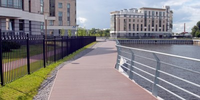 Малая Нева, протока, пешеходная набережная