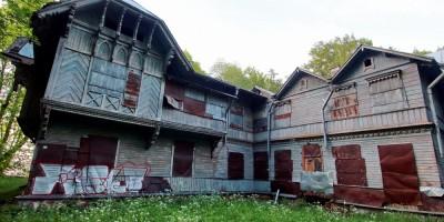 Петергоф, Приморская улица, 8, корпус 3, дача Грубе, задний фасад