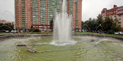 Шушары, фонтан на Первомайской улице