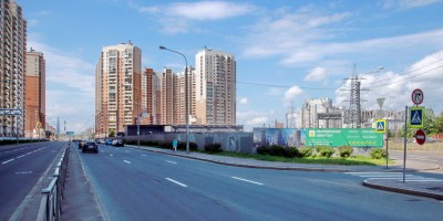 Угол Богатырского проспекта и проспекта Испытателей