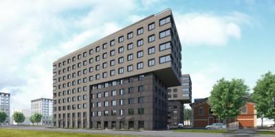 Выборгская набережная, проект жилого дома, вид с Черной речки