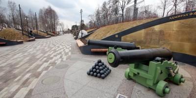 Кронштадт, парк Остров фортов, аллея героев российского флота