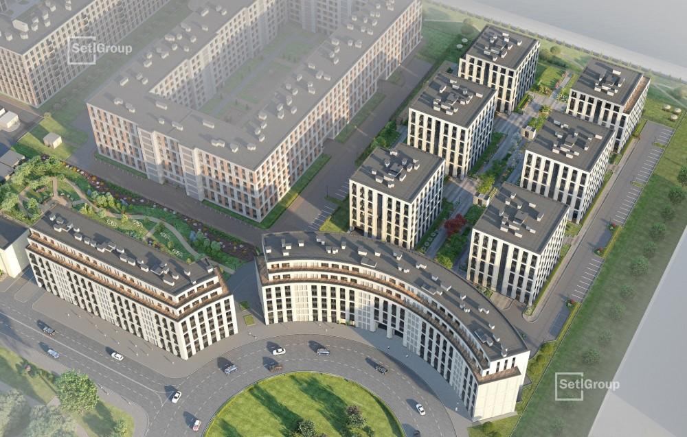 Петровская площадь, жилой комплекс, проект, вид сверху