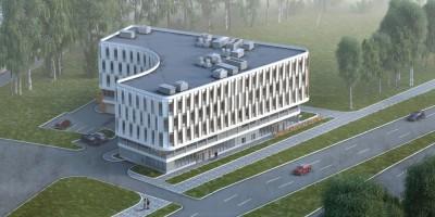 Светлановский проспект, проект медицинского центра, вид сверху