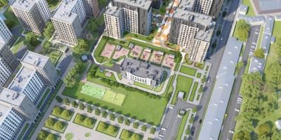Тосина улица, проект жилого комплекса, вид сверху