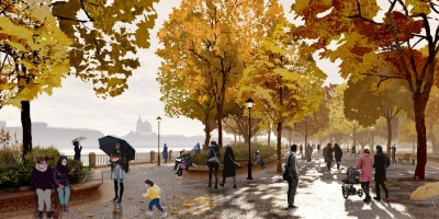 Парк Тучков буян, проект, деревья