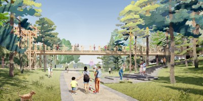 Парк Тучков буян, проект, мост
