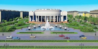 РНБ на Московском проспекте, проект реконструкции фонтанов