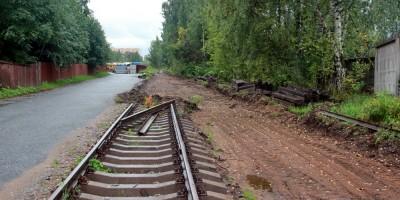 Травяная улица, демонтаж железнодорожного пути
