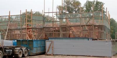 Александровские ворота на улице Химиков, демонтаж