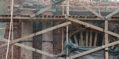 Александровские ворота на улице Химиков, демонтаж, разборка