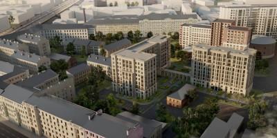 Московский проспект, проект жилого комплекса, вид сверху