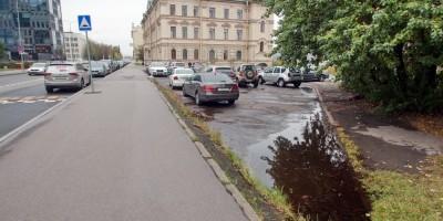 Тротуар на Малоохтинском проспекте
