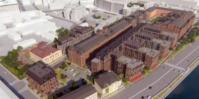 Синопская набережная, проект жилого комплекса, вид сверху