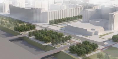 Морская набережная, площадь Беллинсгаузена, проект