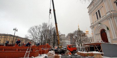 Московский проспект, воссоздание колокольни Новодевичьего монастыря