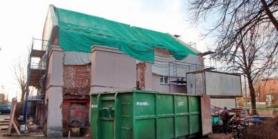 Волковская богадельня на Расстанной улице, 24, двор