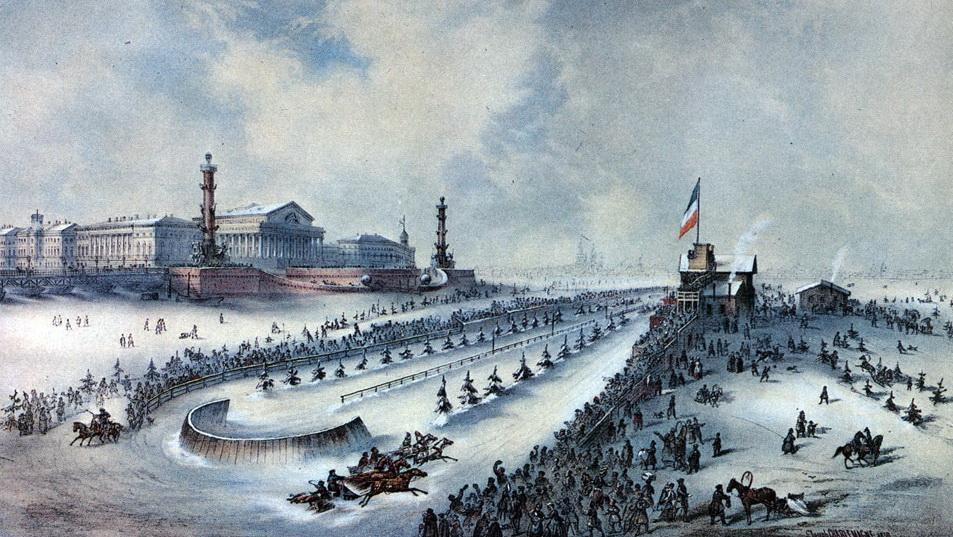 Ипподром перед Стрелкой Васильевского острова