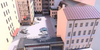 Улица Рубинштейна, 28, вид сверху