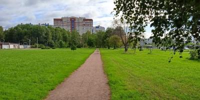 Аллея в парке Есенина