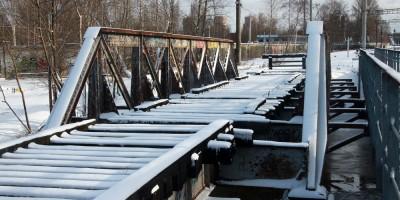 Черная речка, железнодорожный мост