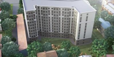Днепропетровская улица, проект жилого дома, вид сверху