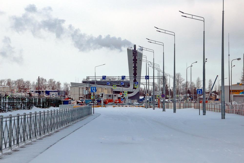 Лахта, Высотная улица возле Бобыльской