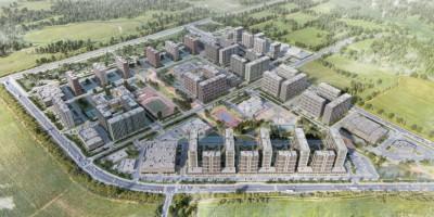 Парголово, Михайловская дорога, проект жилого комплекса, вид сверху