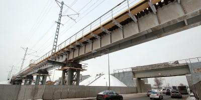 Пулковское шоссе, временный железнодорожный путепровод