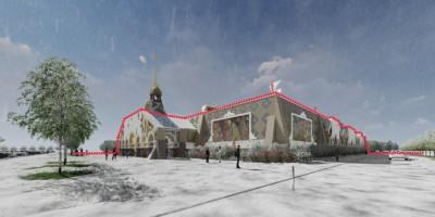 Пушкин, мультимедийный проект Лукоморье, фасады