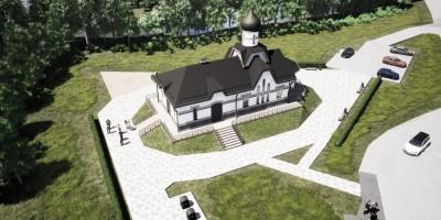 Белоостров, Сестрорецкое шоссе, проект Покровской церкви, вид сверху