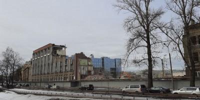Черная речка, снос зданий завода Прогресс