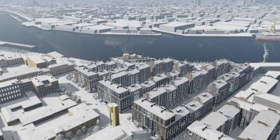 Масляный канал, проект жилого комплекса, вид сверху