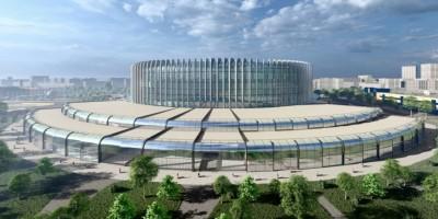 Проспект Юрия Гагарина, проект ледовой арены, вид сзади
