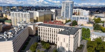 Киевская улица, 5, корпус 6, проект апарт-отеля, вид сверху