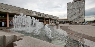 Площадь Победы, фонтан после ремонта