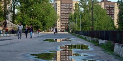 Усть-Славянка, старая трасса Советского проспекта