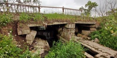 Детскосельский— Тярлево, мост через ручей на безымянной дороге