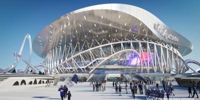 Проект ледовой арены на месте СКК на проспекте Юрия Гагарина