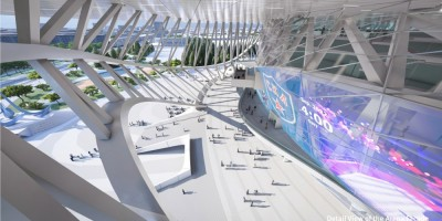 Проект ледовой арены на месте СКК на проспекте Юрия Гагарина, металлоконструкции