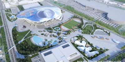 Проект ледовой арены на месте СКК на проспекте Юрия Гагарина, металлоконструкции, парк