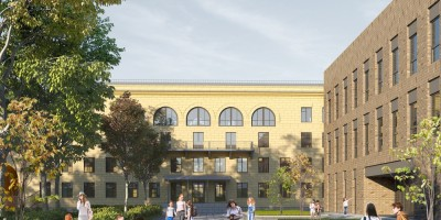 Проект школы между Кантемировской улицей и улицей Капитана Воронина, сталинка