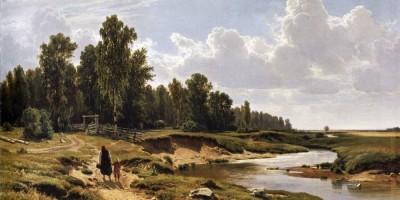 Речка Лиговка в Константиновке, близ Петербурга