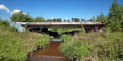 Улица Дыбенко, технопарк Ингрия, мост через ручей