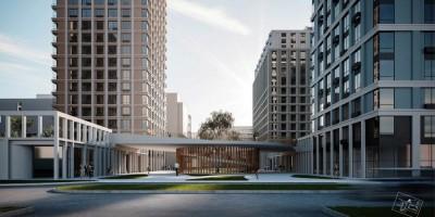 Улица Шостаковича, проект жилого комплекса, пешеходный мост-переход