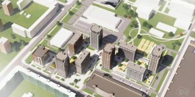 Улица Шостаковича, проект жилого комплекса, вид сверху
