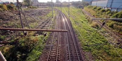 Артиллерийский путепровод, вид на железную дорогу