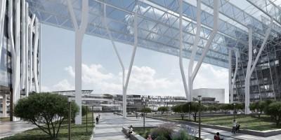 Балканская площадь, проект торгово-офисного комплекса, проход