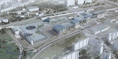 Балканская площадь, проект торгово-офисного комплекса, вид сверху