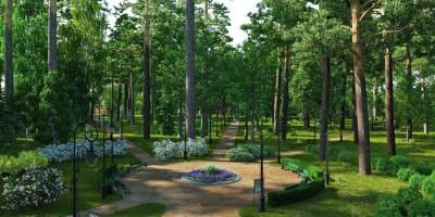 Сестрорецк, проект восстановления Нижнего парка, круглая площадка
